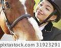 騎馬俱樂部馬和女皮船 31923291