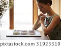 一個女人享受茶 31923319