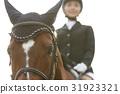 骑马的妇女 31923321
