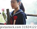 畢業教室淚流滿面的女性肖像 31924122