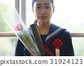 畢業教室淚流滿面的女性肖像 31924123