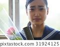 畢業教室淚流滿面的女性肖像 31924125