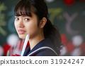 畢業教室淚流滿面的女性肖像 31924247
