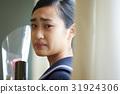 畢業教室淚流滿面的女性肖像 31924306