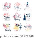 Beauty salon logo design, set of colorful hand 31926300
