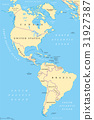 The Americas, North and South America, map 31927387