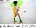 child, kid, rain 31927854