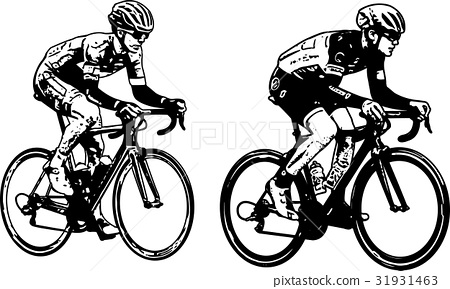 race bicyclists sketch illustration 31931463
