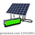 Solar panel with full battery 31932661