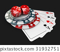 black Background with Casino Elements 31932751