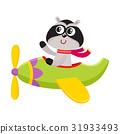 airplane, raccoon, pilot 31933493