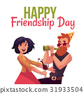 Happy friendship day greeting card 31933504