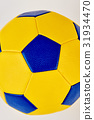 Colorful football ball close up. 31934470