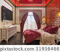 3d render bedroom Islamic style interior design  31936466