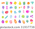 Watercolor illustration Jewel texture 31937736