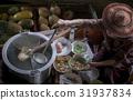 thai noodle food making on floating boat thailand 31937834