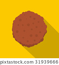 Cutlets icon, flat style 31939666