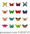 butterfly collection vector 31939715