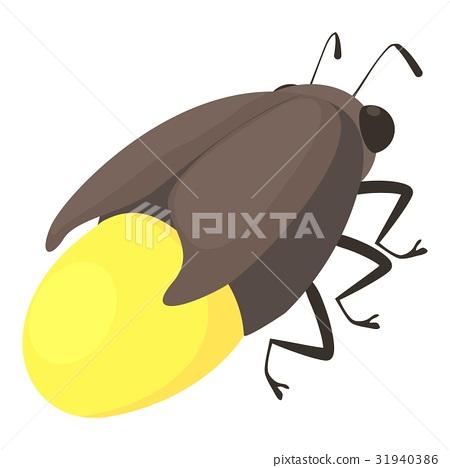 Firefly bug icon, cartoon style 31940386