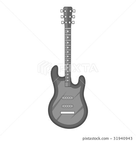 Electric guitar icon monochrome 31940943