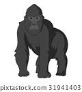 黑白 單色 猴子 31941403