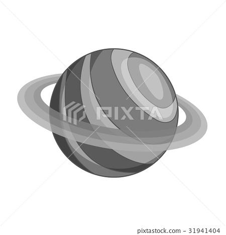 Planet icon monochrome 31941404
