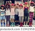 cheerful children kindergarten 31942956
