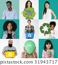 Collages diverse people with recycling concept 31943717