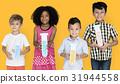 Little Children Holding Test Tubes Chemical 31944558