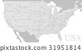 Vector High detailed exact United States America 31951814