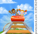 Roller Coaster Fair Theme Park 31953624