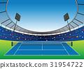 Tennis Court stadium. 31954722
