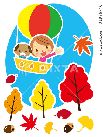 autumn, autumnal, air balloon 31956746