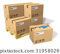 Cardboard boxes on pallet 31958026