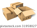 Cardboard boxes 31958027
