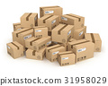 Heap of cardboard boxes 31958029
