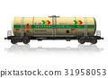 Chemical tanker railroad car 31958053