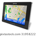 gps, navigator, isolated 31958222