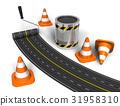 Road construction concept 31958310