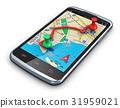 gps navigator smartphone 31959021