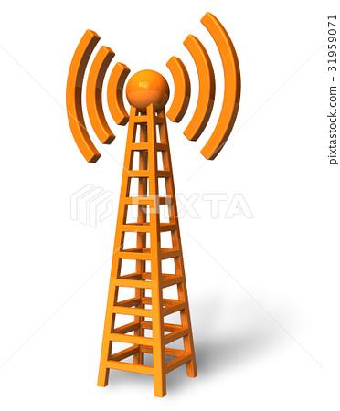 Wireless communication tower 31959071