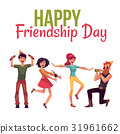 Happy friendship day greeting card 31961662