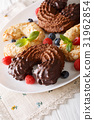Festive almond and chocolate cookies 31962854