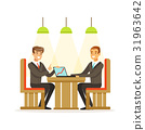 Coworking people exchanging ideas and experience 31963642