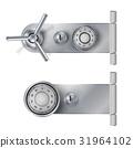 Combination Lock, Realistic Metal Vector 31964102