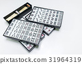 Mahjong the east asia game on white background 31964319