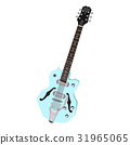 Isolated geometric guitar 31965065