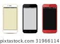 Perspective smartphone mockups set isolated. 31966114