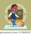 Small Bad School Boy Standing Over Class Board 31966692