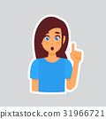Girl Shocked Sticker For Messenger, Label Icon 31966721